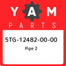 5TG-12482-00-00 Yamaha Pipe 2 5TG124820000, New Genuine OEM Part