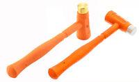 2Pc Dead Blow Hammer Dual-Face Hammer Brass Steel / ABS Head Hammer 12oz
