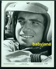ANTONIO SABATO SR VINTAGE 8X10 PHOTO 1967 GRAND PRIX PORTRAIT IN RACE CAR HELMUT