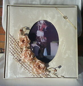 Personalised Handmade Wedding Guest Book 40 Pages