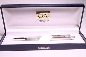 CARAN d'ACHE Ecridor Chevron Bleistift 0.7mm versilbert mit Box - sehr gut -
