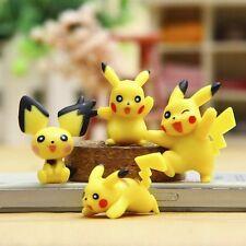 Hot Pokemon Pikachu 8pcs Mini Figures Toy Cute Lots 2-3cm Garden Decorations