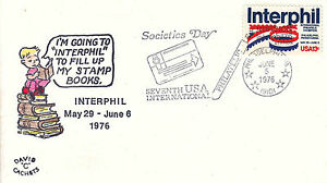 US Cover Sc# 1632 Interphil 76-canceled 6/5 Societies Day w/cachet - US 8208