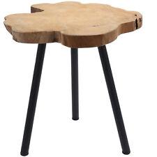 Teak-Holz Beistelltisch Couchtisch Nachttisch Hocker Massivholz Telefontisch