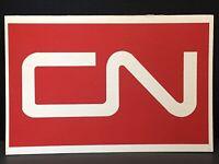 "RAILROAD SIGN -CN-Train Collectible 12"" X 8"" Cardboard CANADIAN NATIONAL RAILWAY"