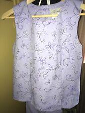 Basic Editions 2 Pc Lavender Color Pant Suit Sz 11/12 Sleeveless Top