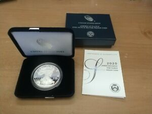 U.S. Mint American Eagle 2020 W One Ounce Silver Proof Coin