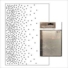 Darice Embossing Folder Falling Dots Snowfall Christmas A2  30032550 4.25 x 5.75