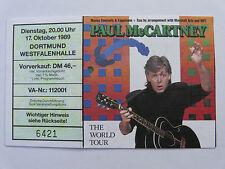 Paul McCartney 1989 Konzertkarte rar Eintrittskarte Ticket Konzert sammeln