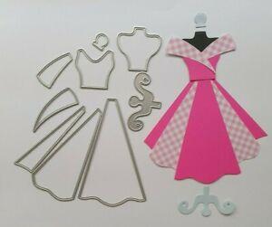 Craft Metal cutting die Scrapbooking Paper craft  DIY Cards - Make Up Dress