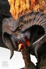 Sideshow Weta Balrog la llama de Undun figura estatua Polystone como nuevo Reino Unido