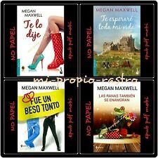 OFERTA 4 EBOOKS NOVELAS DE  MEGAN MAXWELL-EPUP PDF MOBI -NO PAPEL-ESPAÑOL