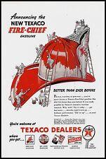 1946 TEXACO Fire Chief Gasoline AD Firefighter Fireman Helmet Old Advertising