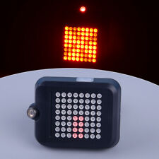 Bicycle Automatic Direction Indicator Bike Tail Laser Taillight Warning Light gl