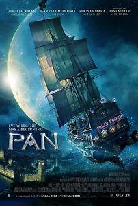 Pan double sided ORIGINAL MOVIE film POSTER Jolly Rodger Blackbeard Hugh Jackman