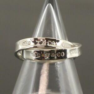 Auth Tiffany & Co. 1837 Interlocking Circles Ring Sterling Silver US:5 #f43959