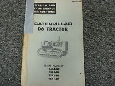 Caterpillar Cat D6 Tractor Lubrication and Maintenance Shop Service Manual