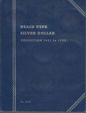 Vintage Peace Type Dollar Whitman Folder 1921-1935 USED