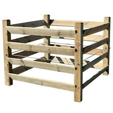 Komposter aus Holz mit Zuganker Brettkomposter aus Holz 100x100x80 cm
