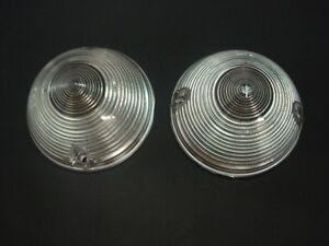 1955 1956 1957 Chevy Truck Parking Lamp Light Lens SET Clear lenses