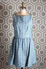 NWT Alice & Olivia Lillyanne Puff Skirt Dress 10 $367 Blue Jacquard