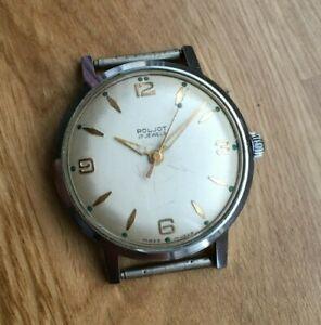 Vintage Poljot watch, all steel, USSR watch,