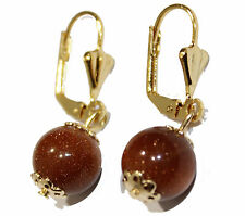 Venturina 10mm Leverback Dangle Earring 18k Gold Plated French Clasp