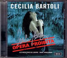 Cecilia BARTOLI Signiert OPERA PROIBITA Minkowski CD Handel Scarlati Caldara