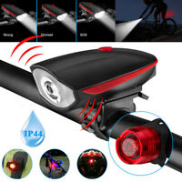 USB Rechargeable Bicycle Light Super Bright Led Bike Headlight &Taillight Set