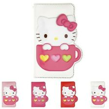 HELLO KITTY Cup Diary Wallet Flip Cover Galaxy S20 S10 5G S9 Note20 Note10 Case