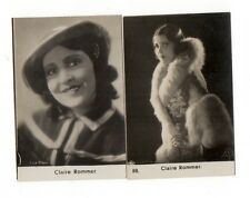 Claire Rommer 1932-1933 Kosmos Film-Photos Film Star Cigarette Cards Lot 2