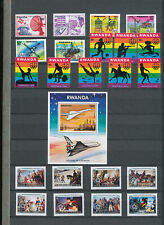 544084 / Ruanda ** MNH Lot mit Block