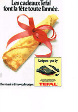PUBLICITE  1979   TEFAL  crepes-party