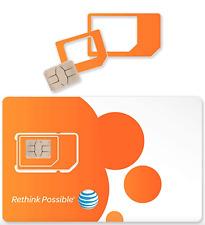 Best At&T Prepaid Plan Triple Cut Sim Card $35/$50$65/$75 4G Lte 30-90days
