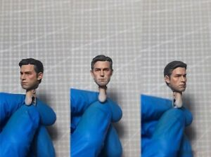 "Painted Service 1/12 Ben Affleck Batman Head Sculpt fit 6"" Mafex ML Mez One:12"