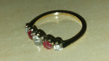 Vintage 18ct Gold Ruby and Diamond Half Eternity Ring
