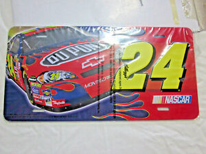 Kellogg's #24 DUPONT NASCAR ADVERTISING METAL LICENSE PLATE COLORFUL NEW