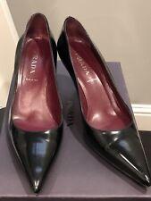 Prada Pointed Toe Pumps Size 38 Black