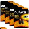 8 x Duracell Alkaline MN21 12V batteries A23 V23GA 3LR50 LRV08 2 in Pack