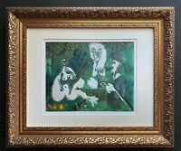 PABLO PICASSO ORIGINAL 1962 BEAUTIFUL SIGNED PRINT MATTED 11 X 14