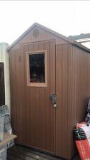 Keter Darwin 6x4 Home Garden Apex Shed Wood Effect Finish