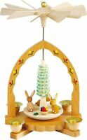 Easter Rabbits Pyramid Handcrafted in Erzgebirge Germany Spring Carousel New