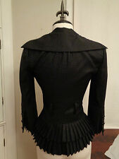 L.A.M.B by Gwen Stefani pleated peplum military blazer 100% wool women's 0