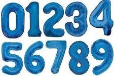 Globos gigantes de fiesta azules de número