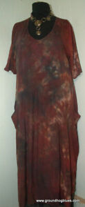 Conjuring Rebecca Floeter ARt to Wear HandDyed Shibori Knit Dress OS B56