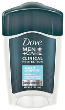 Dove Men Plus Care Clinical Protection Deodorant Solid Clean Comfort 1.7 Oz