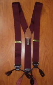 Trafalgar Burgundy Red Pure Silk Suspenders ~England~