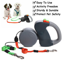 Retractable Pet Dog Double Lead Leash Tangle Dual 2 Dog 50 Pounds Per Dog