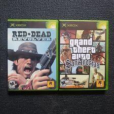 Red Dead Revolver & GTA San Andreas Bundle (Microsoft Xbox, 2004) Complete...