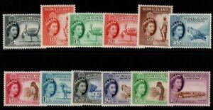 SOMALILAND SG137/48 1953-8 DEFINITIVE SET MNH